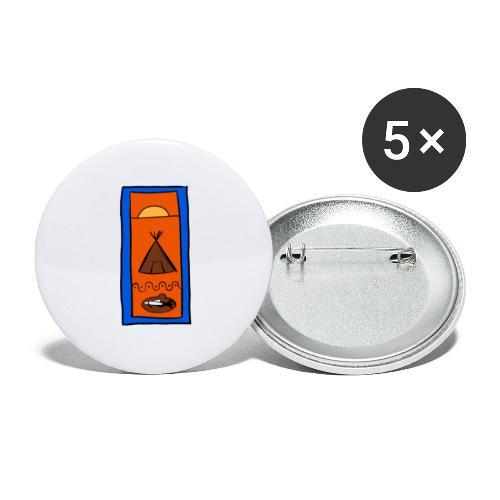 Samisk motiv - Liten pin 25 mm (5-er pakke)