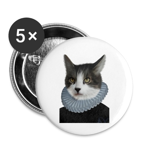 Noble Cat - Buttons klein 25 mm (5er Pack)