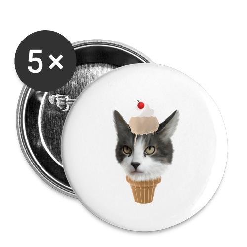 Ice Cream Cat - Buttons klein 25 mm (5er Pack)