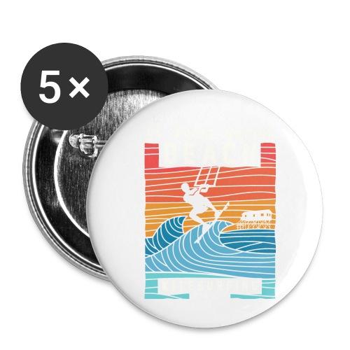 Kitesurfing St. Peter Ording - Buttons klein 25 mm (5er Pack)