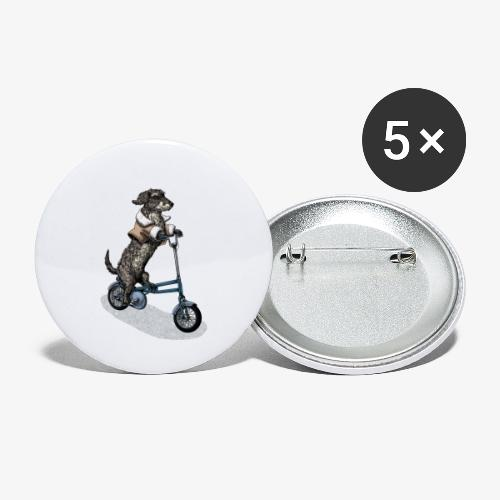 Dog Cyclist - Buttons small 1''/25 mm (5-pack)
