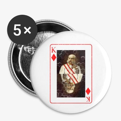 Kaiser Franz von Österreich spielkarte - Buttons klein 25 mm (5er Pack)
