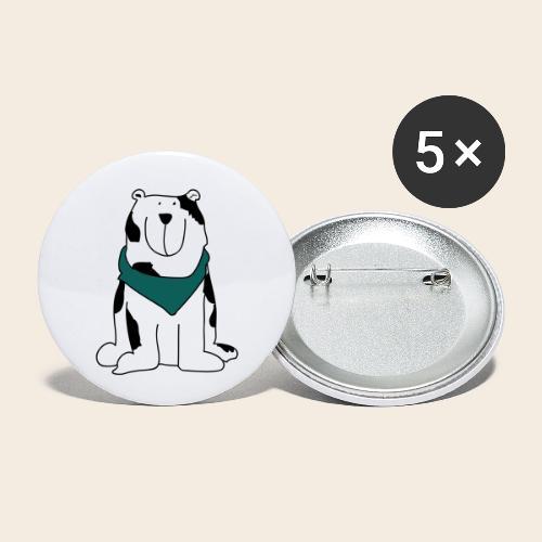 Gros chien mignon - Lot de 5 petits badges (25 mm)