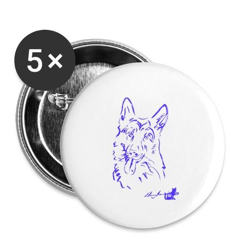PASTORE TEDESCO VIOLA - Confezione da 5 spille piccole (25 mm)
