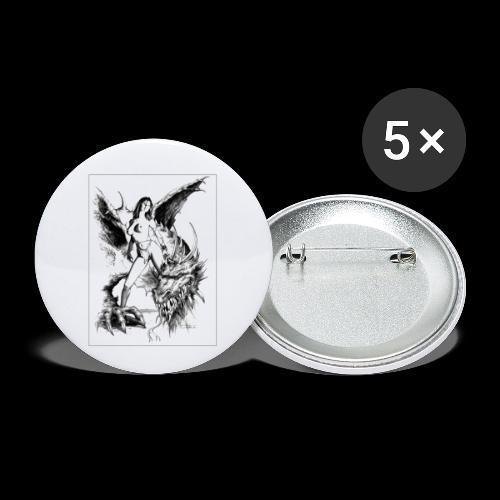 FANTASY 7 - Buttons klein 25 mm (5er Pack)