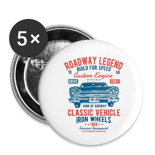Roadway Legend - Buttons klein 25 mm (5-pack)
