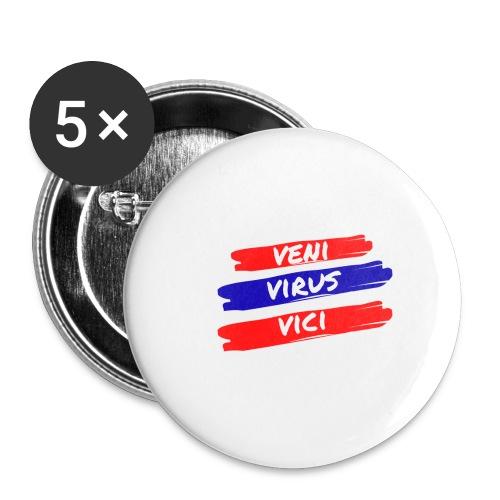 veni-virus-vici - Confezione da 5 spille piccole (25 mm)