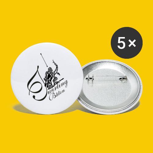 twirling b 2 - Lot de 5 petits badges (25 mm)