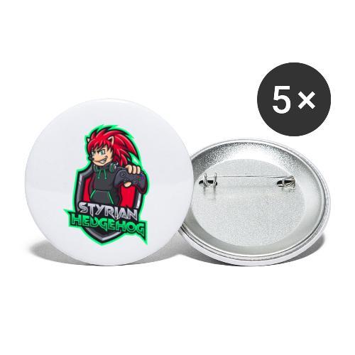 styrian hedgehog Logo - Buttons klein 25 mm (5er Pack)