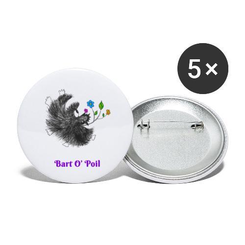 Bart O' Poil - Lot de 5 petits badges (25 mm)