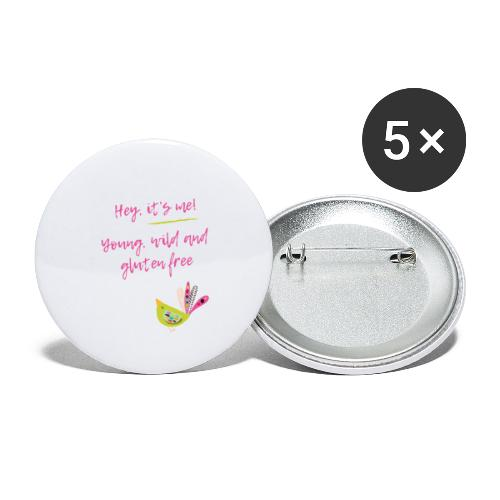 Hey it s me! Young, wild and glutenfree - Buttons klein 25 mm (5er Pack)