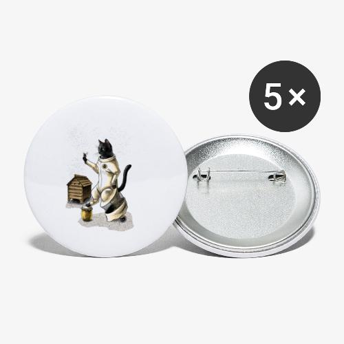 Cat Beekeeper - Buttons small 1''/25 mm (5-pack)