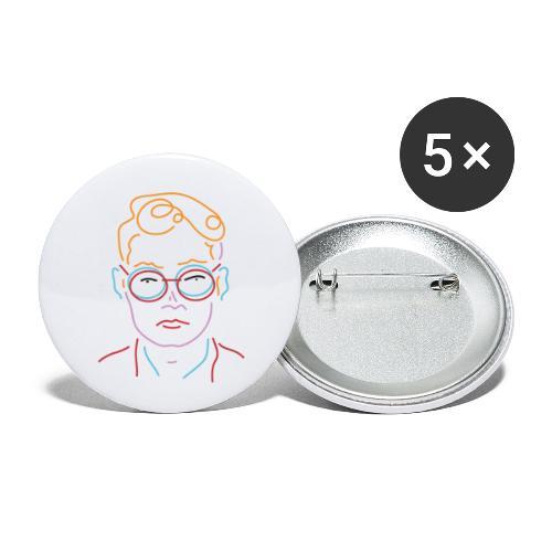 Nightlive - Buttons klein 25 mm (5er Pack)