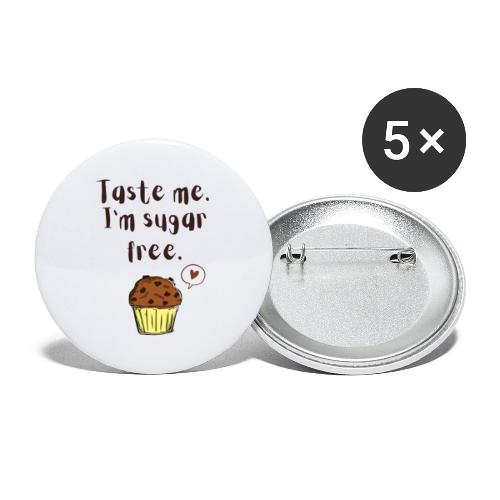 Sugar free muffin - Buttons klein 25 mm (5er Pack)