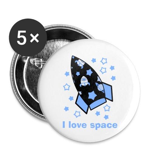 I love space - Confezione da 5 spille piccole (25 mm)