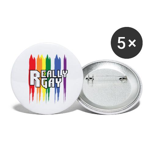 Really Gay - Paquete de 5 chapas pequeñas (25 mm)