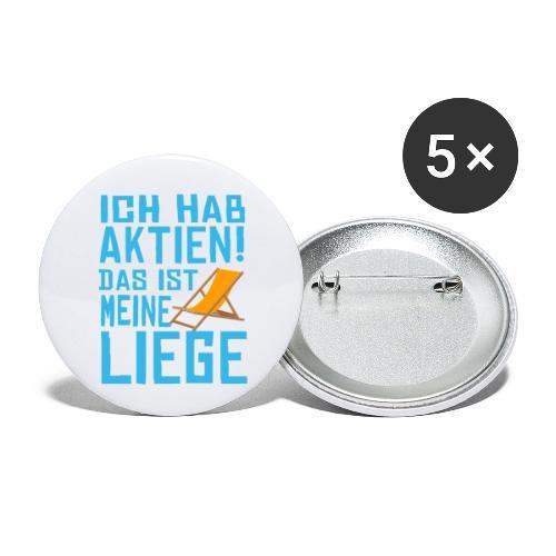SuK - Ich hab Aktien - Das ist meine Liege - Buttons klein 25 mm (5er Pack)