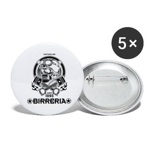 Biker Skull Piston - Buttons klein 25 mm (5er Pack)