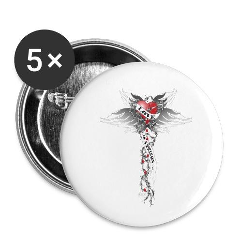 Love is a prison - Liebe ist ein Gefängnis - Buttons klein 25 mm (5er Pack)