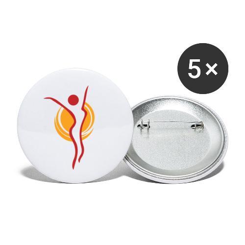 Kaisan Sporttiklubi ikoni - Rintamerkit pienet 25 mm (5kpl pakkauksessa)