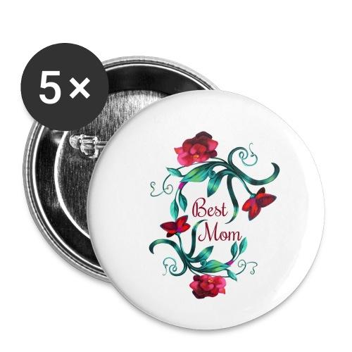 Best Mom - Buttons klein 25 mm (5er Pack)