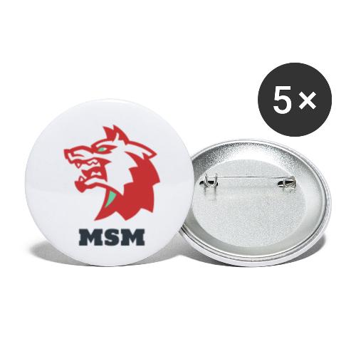 MSM WOLF - Buttons/Badges lille, 25 mm (5-pack)