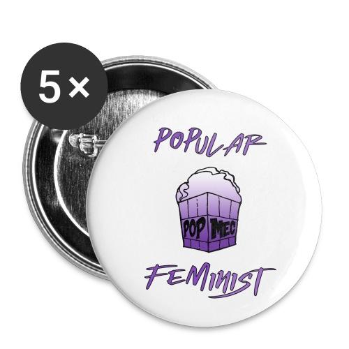 FemPop   Popular Feminist - Buttons small 1''/25 mm (5-pack)