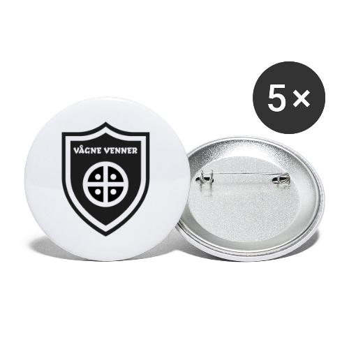 Skjold - Buttons/Badges lille, 25 mm (5-pack)
