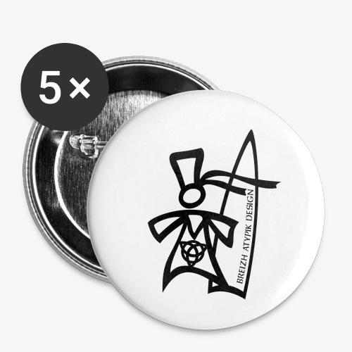 Surf Bigoud Black - Lot de 5 petits badges (25 mm)