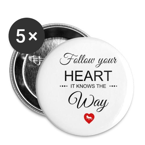 follow your heartbesser - Buttons klein 25 mm (5er Pack)