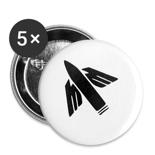 Ilmatorjuntamies - Rintamerkit pienet 25 mm (5kpl pakkauksessa)