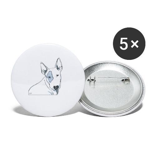 Bull Terrier - Lot de 5 petits badges (25 mm)