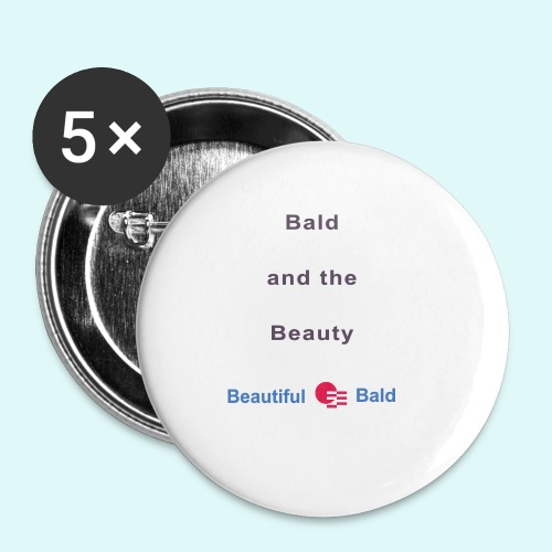 Bald and the Beauty b - Buttons klein 25 mm (5-pack)