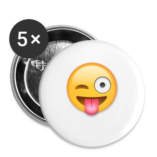 Winking Face - Buttons klein 25 mm (5er Pack)