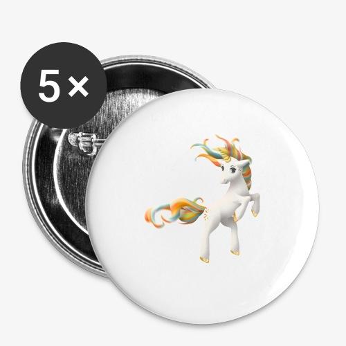 Love Unicorn - Buttons klein 25 mm (5er Pack)