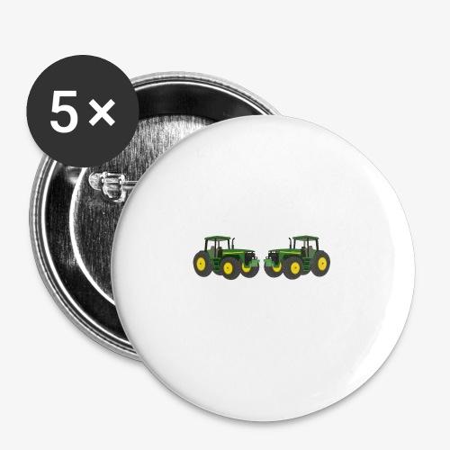 Bauern - Buttons klein 25 mm (5er Pack)