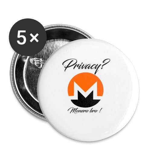 Moneroooo - Lot de 5 petits badges (25 mm)
