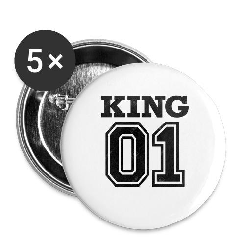 King 01 - Lot de 5 petits badges (25 mm)