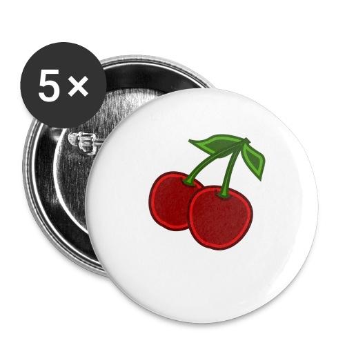 cherry - Przypinka mała 25 mm (pakiet 5 szt.)