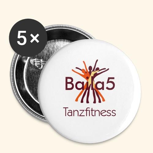 Baila5 Tanzfitness - Buttons klein 25 mm (5er Pack)