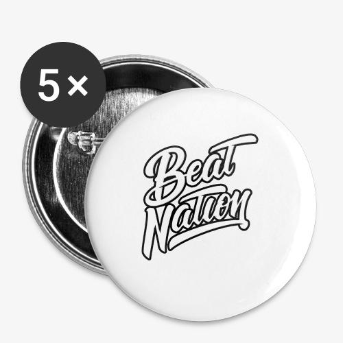 Logo Officiel Beat Nation Blanc - Buttons klein 25 mm (5er Pack)