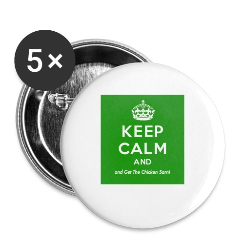 Keep Calm and Get The Chicken Sarni - Green - Buttons small 1''/25 mm (5-pack)