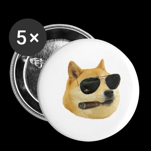 doge crack - Paquete de 5 chapas pequeñas (25 mm)