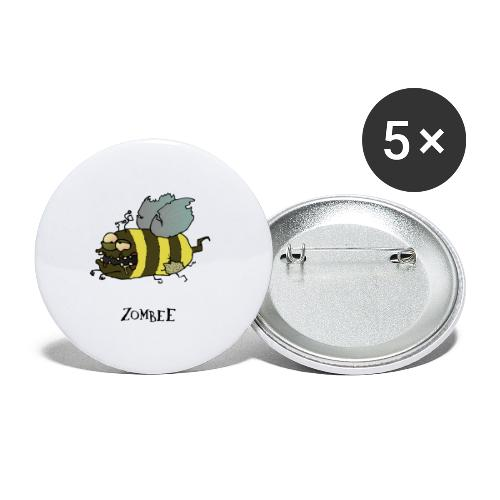 Zombee - Buttons klein 25 mm (5er Pack)