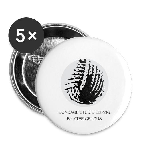 Bondage Studio Leipzig Logo - Buttons klein 25 mm (5er Pack)