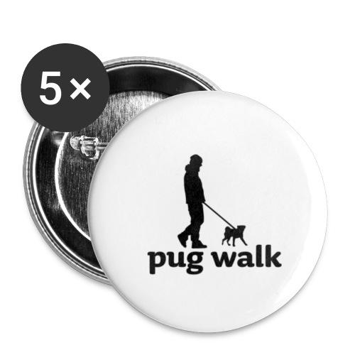 PUG WALK - Buttons klein 25 mm