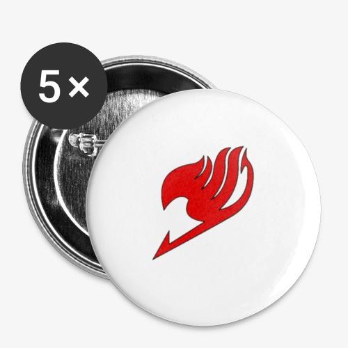 logo fairy tail - Lot de 5 petits badges (25 mm)