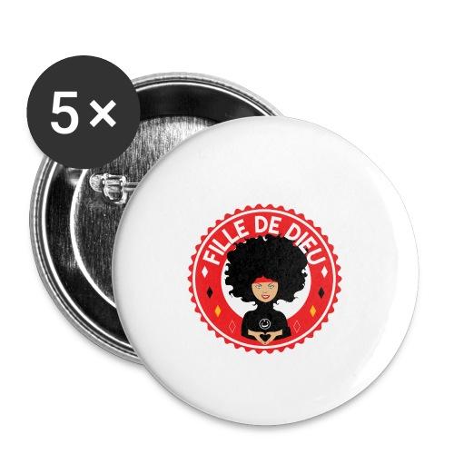 fille de Dieu rouge - Lot de 5 petits badges (25 mm)