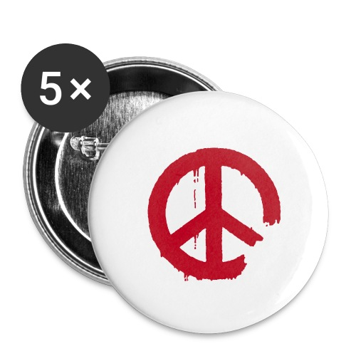 PEACE - Buttons klein 25 mm (5er Pack)