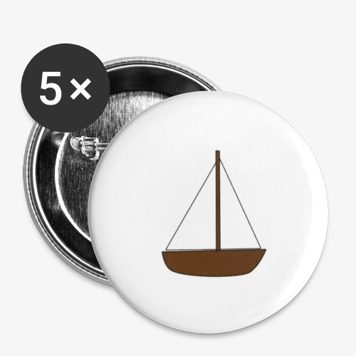 Boat Sticker - Buttons small 1''/25 mm (5-pack)